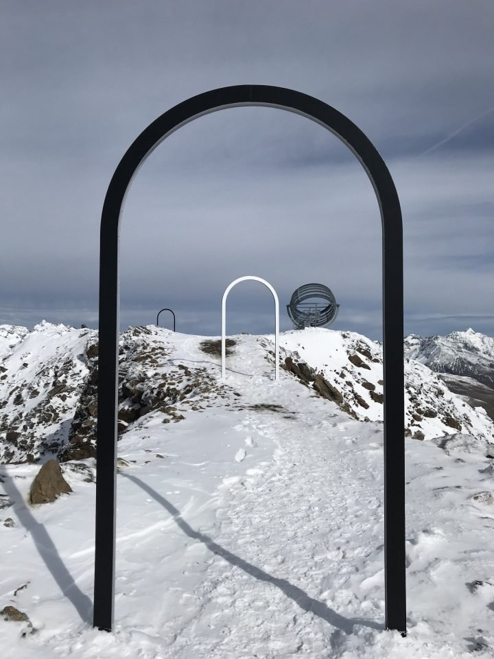 Our Glacial Perspectives, Studio Olafur Eliasson's Public Artwork On A Snow-Covered Mountain